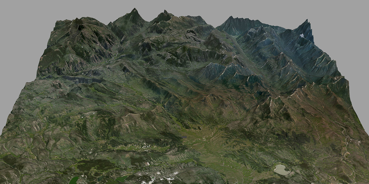 Realistic terrain creation from Satellite